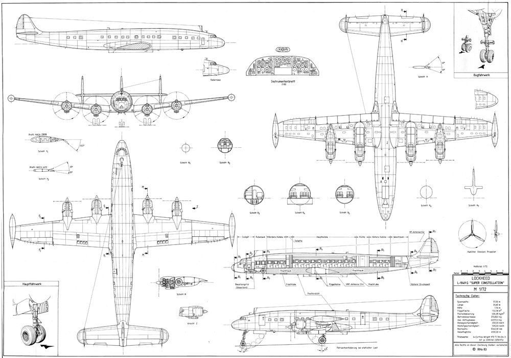 The-Blueprints.com - Vector Requests - Lockheed L-1049 Super ...