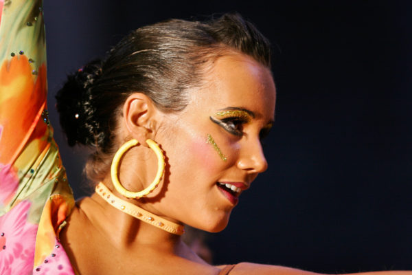 Head shot of a female latin dancer