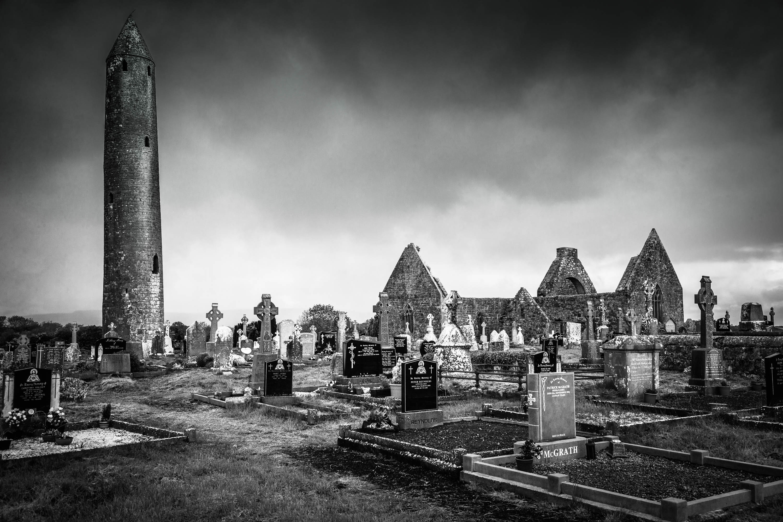 Kilmacduagh Abbey, Co. Clare, Ireland