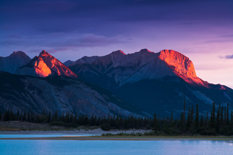 De Smet Range bei Sonnenaufgang, Jasper Nationalpark