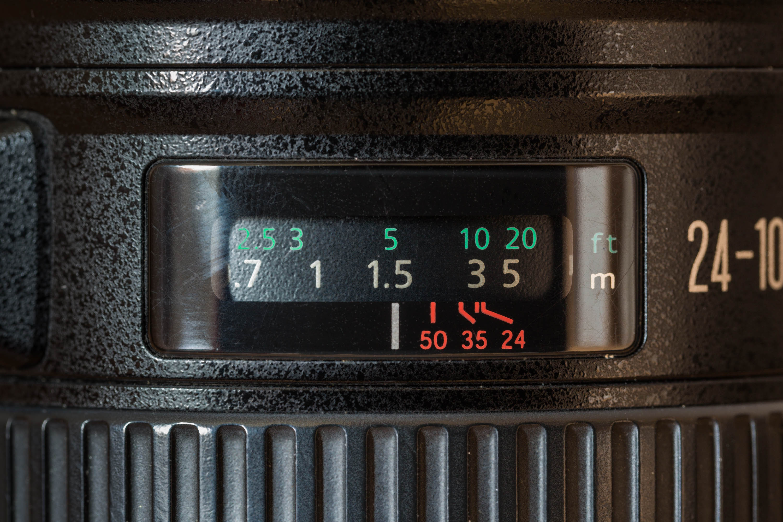 Entfernungsring an einem Objektiv